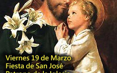 Fiesta de San José, Patrono de la Iglesia